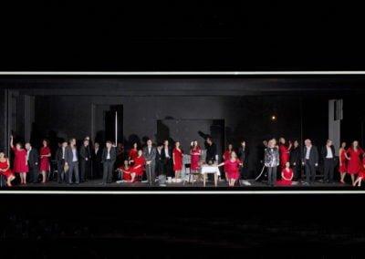 Theater Basel - Der Sandmann - Uraufführung am 20.10.2012 - Lothar: Marco Spehar - Clara: Agneta Eichenholz - Coppelius: Hans Schöpflin - Vater: Thomas Piffka - Nathanael: Ryan McKinny