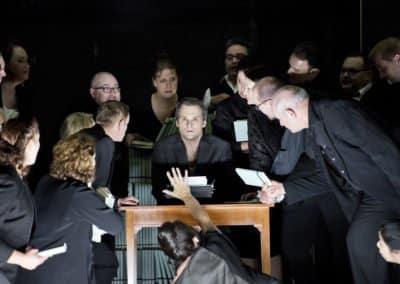 Theater Basel - Der Sandmann - Uraufführung am 20.10.2012 - Nathanael: Ryan McKinny - Chor des Theater Basel