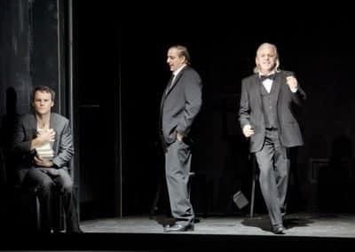 Theater Basel - Der Sandmann - Uraufführung am 20.10.2012 - Nathanael: Ryan McKinny - Vater: Thomas Piffka - Coppelius: Hans Schöpflin